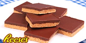 Barritas de Chocolate y Mantequilla de Cacahuete sin Horno! | Reese's