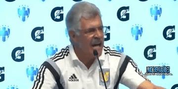 Tuca Ferreti se enoja con un reportero y se sale de la Conferencia ~Tigres 2-1 Monterrey~ 2016 HD
