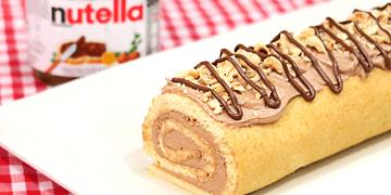 Brazo de Gitano de Nutella   Cake Roll