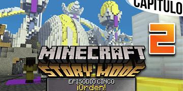 MINECRAFT: STORY MODE | Ep. 5 Cap. 2 BIENVENIDOS A CIUDAD CELESTIAL | Gameplay en Español