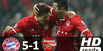 Bayern de Munique 5 x 1 Arsenal - Melhores Momentos - Champions League 15/02/2017 HD