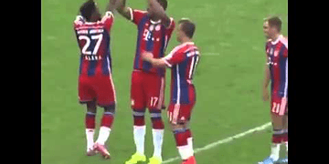 Alaba and Boateng dancing