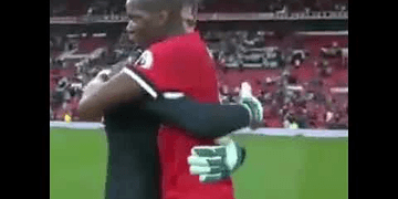 Pogba and De gea amazing handshake