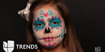 Tutoríal: maquillaje Catrina para que tu nena luzca esta temporada