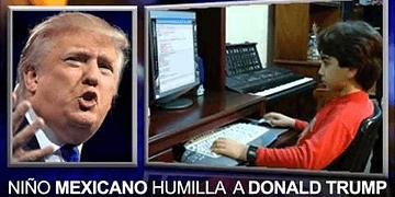 Niño GENIO mexicano HUMILLA a Donald Trump !!