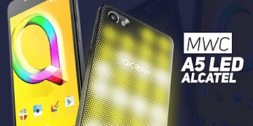 ALCATEL A5 LED : La coque s'illumine, gadget ? (MWC 2017) - W38