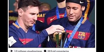 La emotiva carta de Messi a Neymar tras abandonar al Barcelona