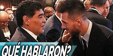Qué le dijo Maradona a Messi en la gala FIFA The Best?