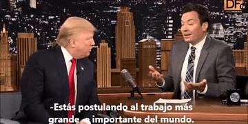 La 'entrevista de trabajo' de Donald Trump en el show de Jimmy Fallon