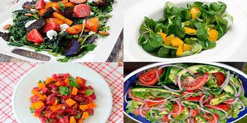 4 ENSALADAS para BAJAR de PESO RÁPIDO, saludables, fáciles y deliciosas