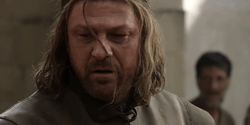 Pelea Ned Stark contra Jaime Lannister. Game of Thrones